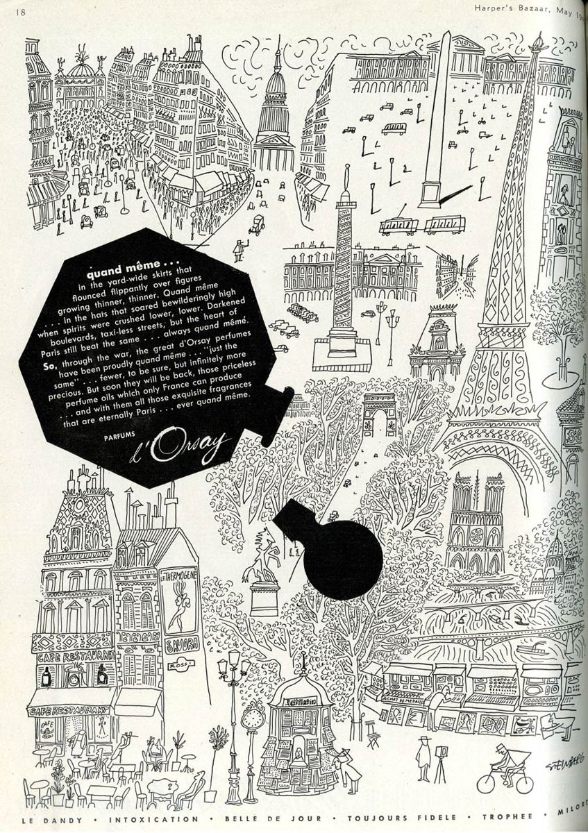 Advertisement for D'Orsay Perfume, 1946.