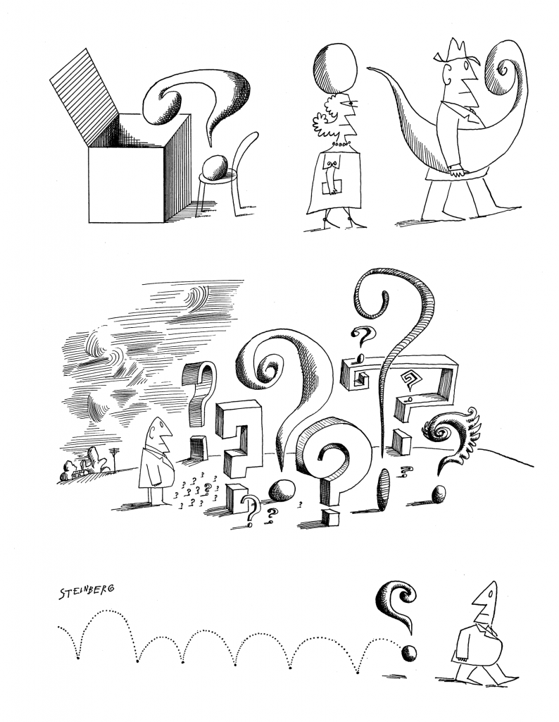 "Page from the <em>""Question Mark""</em> portfolio, <em>The New Yorker</em>, July 29, 1961"