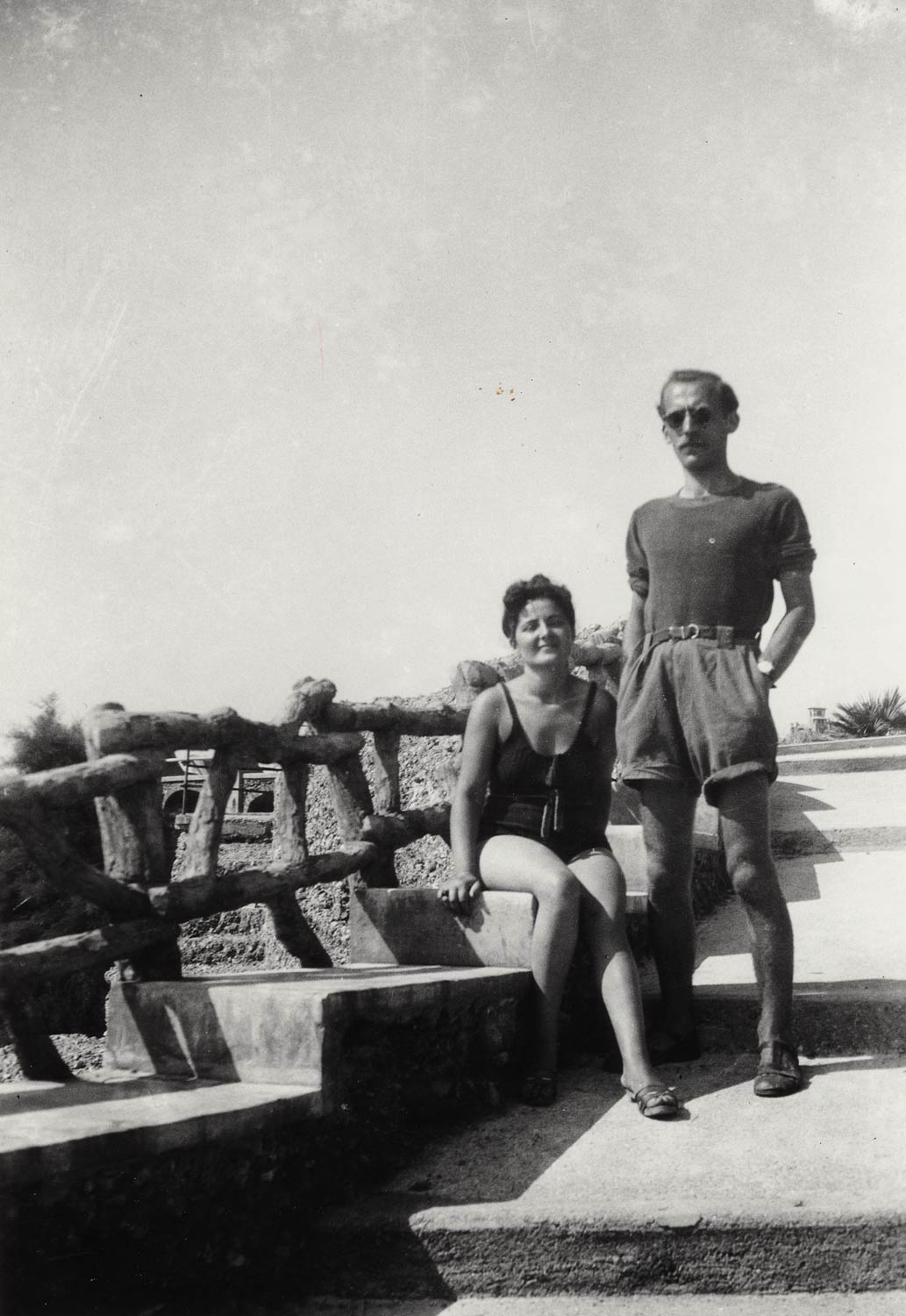 Steinberg with Ada Ongari, c. 1937-38. Saul Steinberg Papers, Beinecke Rare Book and Manuscript Library, Yale University.