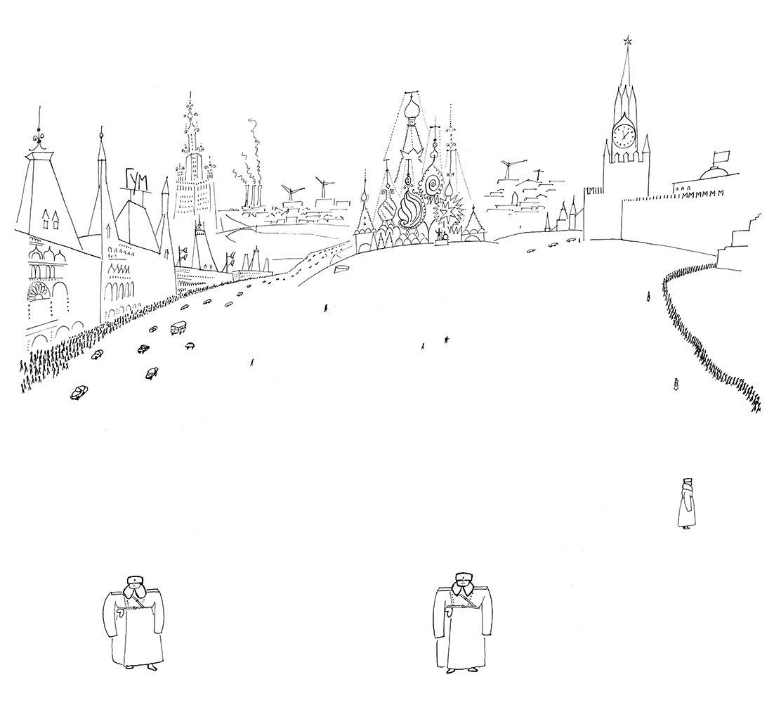 """Page from """"Winter in Moscow,"""" The New Yorker, June 9, 1956."""